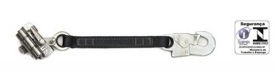 Trava-queda de aço inox p/ corda 12mm extensor fita
